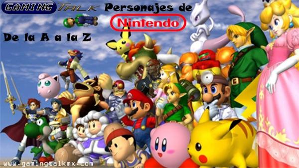 De la A a la Z - Personajes de Nintendo